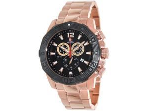Swiss Precimax SP13268 Men's Legion Reserve Pro Rose-Gold Stainless-Steel Swiss Chronograph Watch with Black Dial