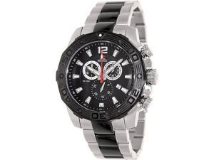 Swiss Precimax Legion Pro SP13270 Men's Black Dial Two-Tone Stainless Steel Chronograph Watch