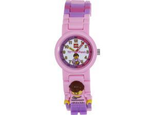 Lego Children's Time Teacher 9005039 Pink Plastic Quartz Watch with White Dial