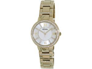 Women's Gold Fossil Virginia Crystallized Watch ES3283