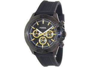Fossil Men's CH2870 Retro Traveler Chronograph Silicone Black Watch