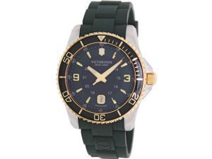 Victorinox Swiss Army Men's Maverick Gs 241606 Green Rubber Swiss Quartz Watch with Green Dial