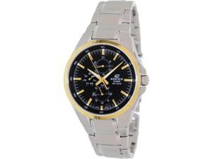 Casio Men's Edifice EF339DB-1A9V Silver Stainless-Steel Quartz Watch with Black Dial