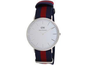 Daniel Wellington Men's Classic Oxford DW1007 Multicolor Cloth Quartz Watch with White Dial