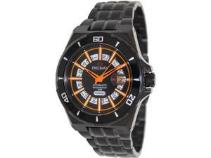 Swiss Precimax PX13218 Men's Stark Automatic Black Stainless-Steel Automatic Watch with Black Dial