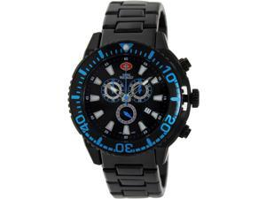 Swiss Precimax SP13103 Men's Pulse Pro Black Stainless-Steel Swiss Chronograph Watch with Black Dial
