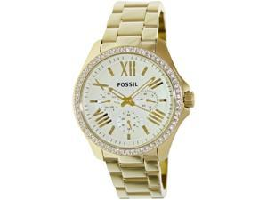 Fossil Women's Cecile AM4482 Gold Stainless-Steel Quartz Watch with Beige Dial