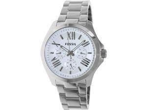 Fossil Women's Cecile AM4509 Silver Stainless-Steel Quartz Watch with Silver Dial