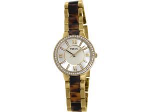 Fossil Women's Virginia ES3314 Two-Tone Resin Quartz Watch with Beige Dial