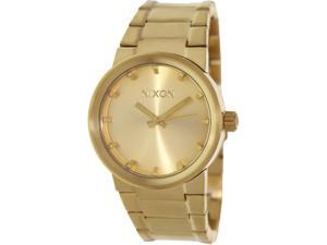 Nixon Men's Cannon A160502 Gold Stainless-Steel Quartz Watch with Gold Dial