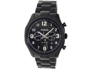 Fossil Men's Foreman FS4864 Black Stainless-Steel Quartz Watch with Black Dial
