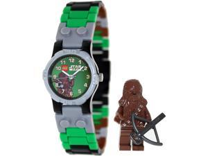 Lego Children's Star Wars 9001116 Multicolor Plastic Quartz Watch with Green Dial