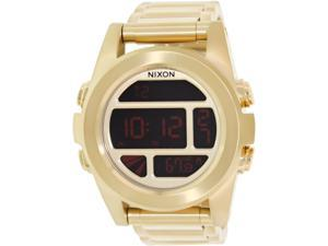 Nixon Men's Unit Ss A360502 Gold Stainless-Steel Quartz Watch with Digital Dial