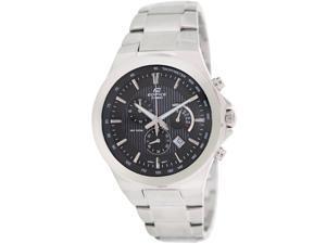 Casio Men's Edifice EFR500D-1AV Silver Stainless-Steel Analog Quartz Watch with Black Dial
