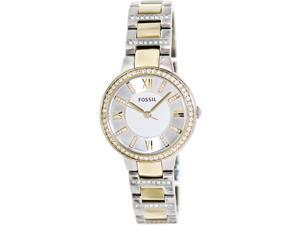Fossil Women's Virginia ES3503 Two-Tone Stainless-Steel Quartz Watch with White Dial