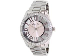 Kenneth Cole Women's KC4982 Silver Stainless-Steel Quartz Watch with Pink Dial