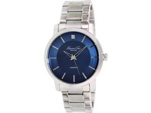 Kenneth Cole Men's KC9329 Silver Stainless-Steel Quartz Watch with Blue Dial