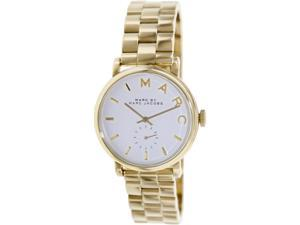 Marc By Marc Women's Baker MBM3243 Gold Stainless-Steel Swiss Quartz Watch with Silver Dial