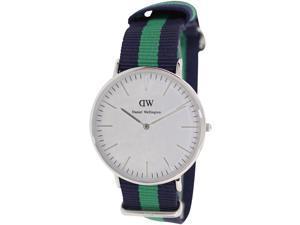Daniel Wellington Men's Warwick 0205DW Two-Tone Nylon Quartz Watch with White Dial