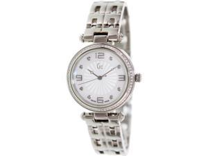Guess Women's X17110L1S Silver Stainless-Steel Swiss Quartz Watch with Mother-Of-Pearl Dial