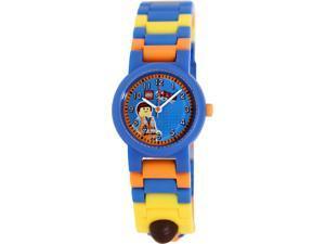 Lego Children's Emmet 9009976 Multicolor Plastic Analog Quartz Watch with Blue Dial