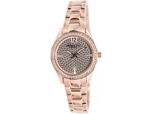 Kenneth Cole Women's KC0005 Rose-Gold Stainless-Steel Quartz Watch with Rose-Gold Dial