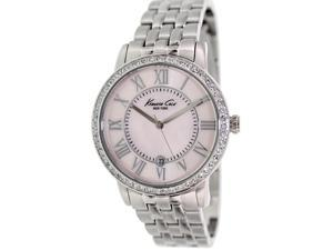 Kenneth Cole Women's KC4981 Silver Stainless-Steel Quartz Watch with Pink Dial