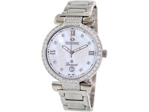 Precimax Women's Siren Diamond PX13332 Silver Stainless-Steel Quartz Watch with Mother-Of-Pearl Dial