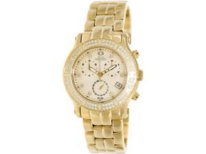 Swiss Precimax SP13324 Women's Tribeca Elite Gold Stainless-Steel Swiss Chronograph Watch with Mother-Of-Pearl Dial