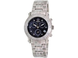 Swiss Precimax SP13325 Women's Tribeca Elite Silver Stainless-Steel Swiss Chronograph Watch with Mother-Of-Pearl Dial
