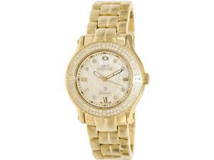 Swiss Precimax Women's Tribeca Diamond SP13329 Gold Stainless-Steel Swiss Quartz Watch with Mother-Of-Pearl Dial
