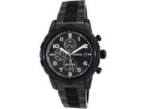 Fossil Men's Dean FS4904 Black Stainless-Steel Quartz Watch with Black Dial
