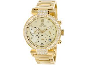 Precimax Women's Siren Elite PX13339 Gold Stainless-Steel Quartz Watch with Mother-Of-Pearl Dial