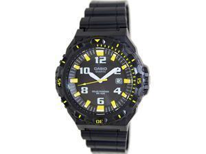 Casio Men's MRWS300H-1B3V Black Resin Analog Quartz Watch with Black Dial