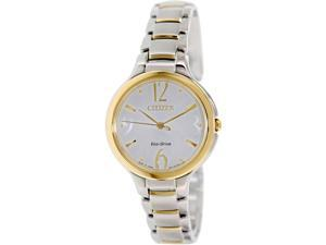 Citizen Women's Eco-Drive EP5994-59A Two-Tone Stainless-Steel Eco-Drive Watch with White Dial