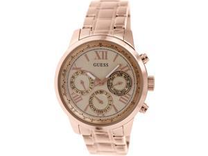 Guess Women's U0330L2 Rose-Gold Stainless-Steel Quartz Watch with Rose-Gold Dial