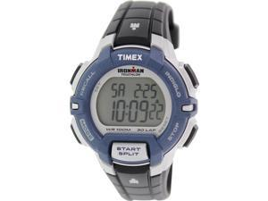 Timex Men's Ironman T5K810 Blue Rubber Quartz Watch with Digital Dial