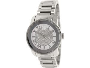 Movado Women's Bold 3600254 Silver Stainless-Steel Swiss Quartz Watch with White Dial