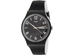 Swatch Men's Originals SUOB715 Black Silicone Swiss Quartz Watch with Black Dial
