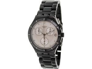 Swatch Men's Irony YCB4026AG Black Aluminum Swiss Quartz Watch with Silver Dial