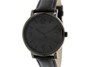 Timex Men's Originals T2P528 Black Leather Quartz Watch with Grey Dial