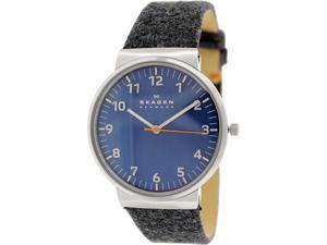 Skagen Men's Ancher SKW6092 Grey Cloth Quartz Watch with Blue Dial