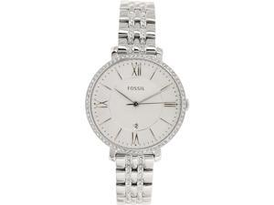 Fossil Women's Jacqueline ES3545 Silver Stainless-Steel Quartz Watch with White Dial
