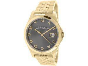 Marc By Marc Women's Slim MBM3349 Gold Stainless-Steel Quartz Watch with Grey Dial