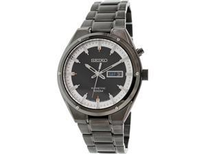 Seiko Men's SMY153 Black Brass Plated Stainless-Steel Seiko Kinetic Watch