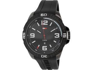 Tommy Hilfiger Men's 1791090 Black Rubber Quartz Watch