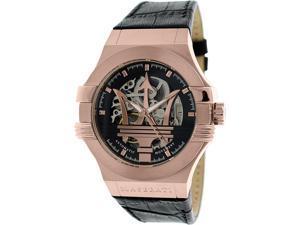 Maserati Men's Potenza R8821108002 Rose Gold Leather Automatic Watch