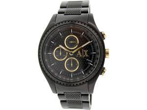 Armani Exchange Men's AX1604 Black Stainless-Steel Quartz Watch