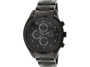 Armani Exchange Men's AX1605 Black Stainless-Steel Quartz Watch