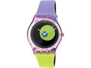 Swatch Women's Originals GP143 Multicolor Rubber Swiss Quartz Watch